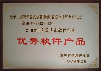2003优秀软件产品